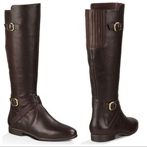 Ugg Beryl tall leather riding boot brown new 7.5